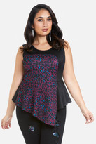 Fashion to Figure Electric Animal Peplum Top