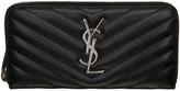 Saint Laurent Black Quilted Monogram Wallet