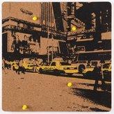 nexxt Cadoo Self Adhesive Silk Screened Corkboard, New York, 12 by 12-Inch
