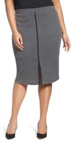 Plus Size Women's Mblm By Tess Holliday Rib Knit Pencil Skirt