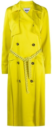 MSGM Vibrant Chain-Belt Trench Coat