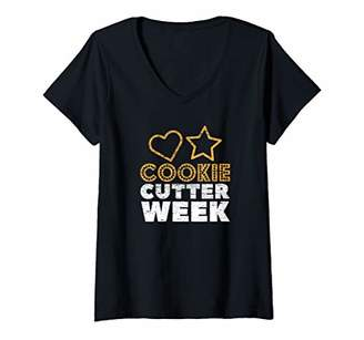 Womens Cookie Cutter Week V-Neck T-Shirt