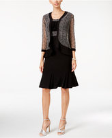 R & M Richards Embellished Sequin Mesh Dress and Jacket