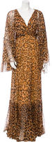 Christian Dior Leopard Print Silk Dress