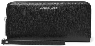 MICHAEL Michael Kors Jet Set Pebbled Leather Continental Wristlet