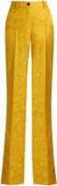 Roberto Cavalli High-rise wool and silk-blend wide-leg trousers