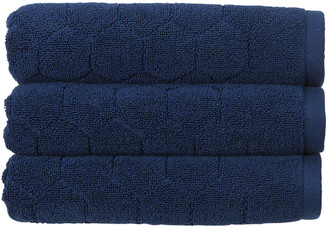 Christy Honeycomb Towel - Navy - Hand