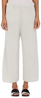 Barneys New York Women's Stockinette-Stitched Cashmere Sweatpants - Light Gray