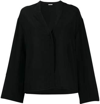 Barena flared v-neck blouse