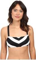 Lauren Ralph Lauren Chevron X-Back OTS Bikini Top