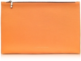 Victoria Beckham Pumpkin Embossed Grained Leather Large Simple Pouch