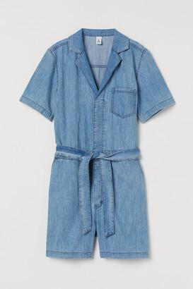 H&M Short denim boiler suit