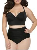 TimNas Womens Sexy Bikini Set Plus Size Two Piece Swimsuit High Waisted Swimwear
