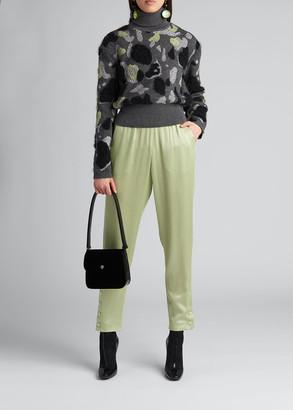 Giorgio Armani Camo Cashmere-Blend Jacquard Sweater