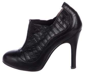 Chanel Quilted Leather Booties