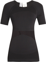 adidas by Stella McCartney Mesh-panelled seamless performance top