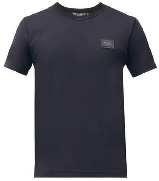 Dolce & Gabbana Logo-patch Cotton-jersey T-shirt - Navy