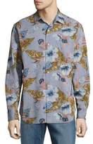 Tommy Bahama Paulo Chambray Cotton Button-Down Shirt