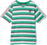 Beverly Hills Polo Club Winter Green Stripe Jersey Tee - Toddler & Boys