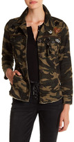 Jolt Embellished Camo Cargo Jacket (Juniors)
