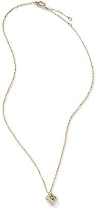 David Yurman 18kt yellow gold diamond Venetian Quatrefoil necklace