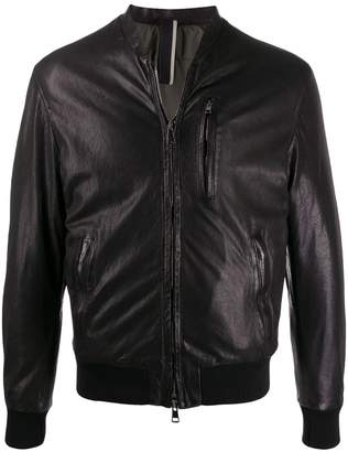 Low Brand slim-fit zip-up biker jacket