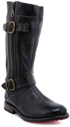 Bed Stu Leather Lug Wide Calf Moto Boots - Gogo