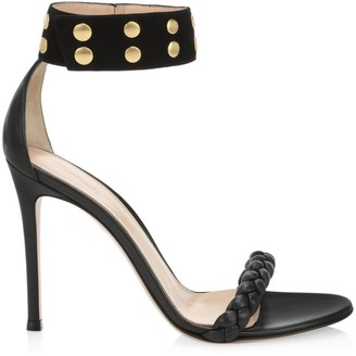 Gianvito Rossi Ankle-Cuff Leather Sandals
