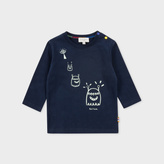 Paul Smith Baby Boys' Navy Glow-In-The-Dark Alien 'Moon' Top
