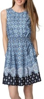 Donna Morgan Women's Border Print Fit & Flare Dress