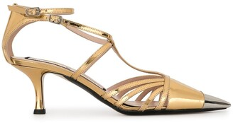 No.21 Pointed Toe Strappy Pumps