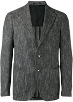 Tagliatore two button blazer - men - Cotton/Linen/Flax/Acrylic/Cupro - 48