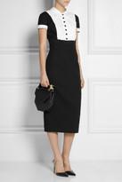 L'Wren Scott Taffeta-paneled stretch-wool dress