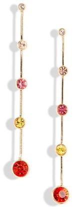 Stella + Ruby Multi Stone Linear Drop Earrings