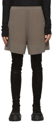 Rick Owens Taupe Moncler Edition Cashmere Sisy Shorts