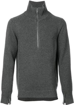 Burberry Zip-Neck Sweater