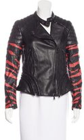 3.1 Phillip Lim Leather Printed Jacket w/ Tags