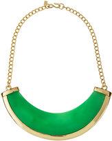 Kenneth Jay Lane Polished Golden Jade-Hue Bib Necklace