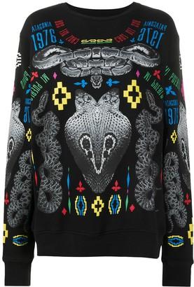 Marcelo Burlon County of Milan Graphic Snake Print Sweatshirt