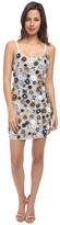 Vera Wang 3-D Sequin Mini Dress