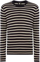 Ps By Paul Smith Feeder Stripe Crew Neck Knit