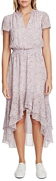 1 STATE Wildflower Bouquet High/Low Flounce Dress