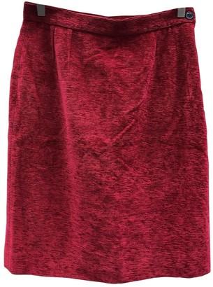 Saint Laurent Red Velvet Skirt for Women Vintage