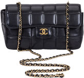 One Kings Lane Vintage Chanel Black Leather Cross Body Bag