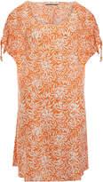 Heidi Klein Orange Printed Split Shoulder Dress