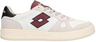 Lotto Leggenda Signature Sneakers In White Suede And Leather