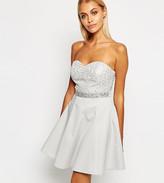 Lipsy Bandeau Sequin Mini Prom Dress