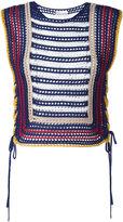 RED Valentino crochet tank top