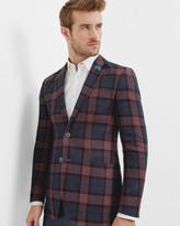 Tight Lines Checked Linen Blazer