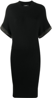 DSQUARED2 Studded Sleeves Mini Dress